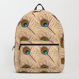 Peacock feather east ornament Backpack