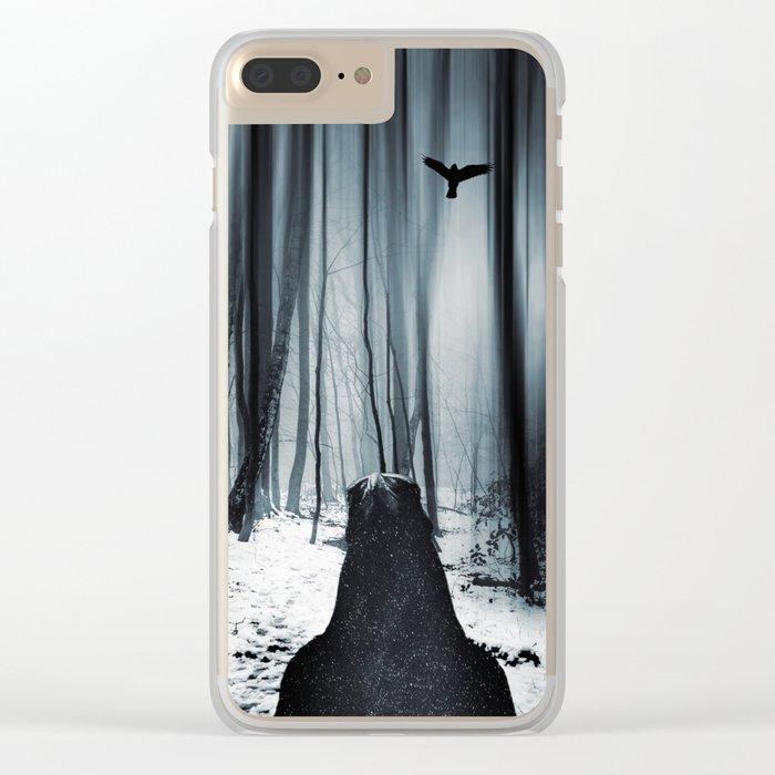 dark promise - raven Clear iPhone Case