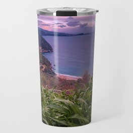 Greek Peninsula Landscape Travel Mug