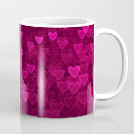 Valentine's Day   Romantic Crimson Galaxy   Universe of pink purple hearts Coffee Mug