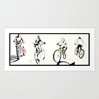 bicycles Art Prints featuring Bicycles by Jonas Ericson