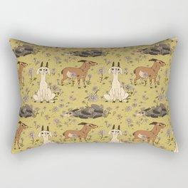 Summer Goat Pattern Rectangular Pillow