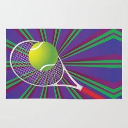 Tennis Ball and Racket Rug