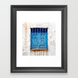 Blue window Framed Art Print
