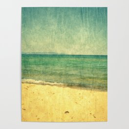 Seascape Vertical Abstract Poster