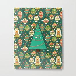 Trim The Christmas Tree Metal Print