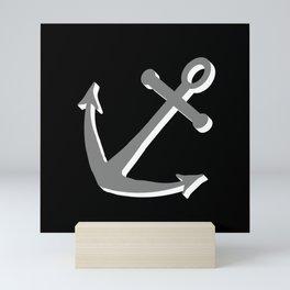 Anchor at an angle, seafaring Mini Art Print