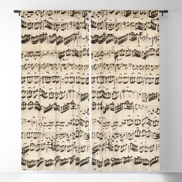 Johann Sebastian Bach (1685 – 1750) original music sheet Blackout Curtain