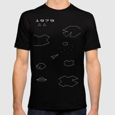 ASTEROIDS Mens Fitted Tee Black MEDIUM