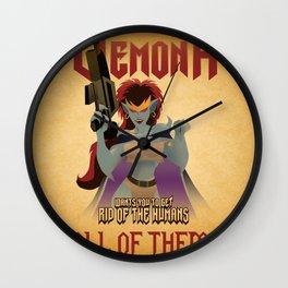 Demona Propganda Wall Clock