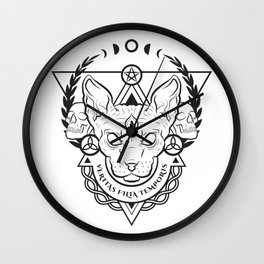 VERITAS FILIA TEMPORIS Wall Clock