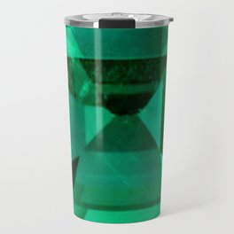 FACETED EMERALD GREEN MAY GEMSTONE Travel Mug