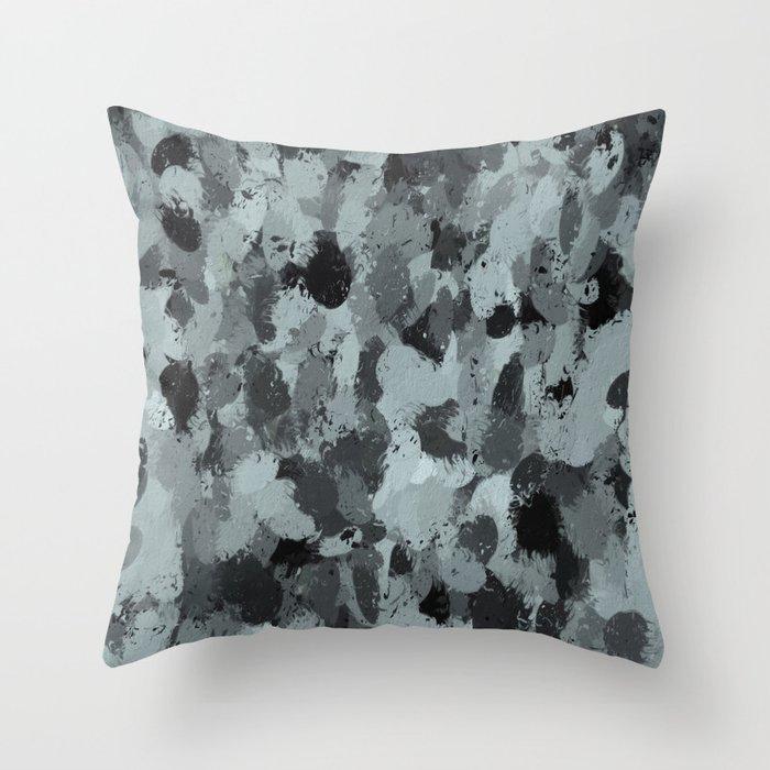 Black and Smokey Blue Pastels 3216 Throw Pillow