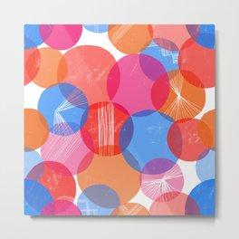 Bauhaus Bubbles Metal Print