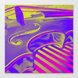 Neon Violin Pink n Yellow Canvas Print