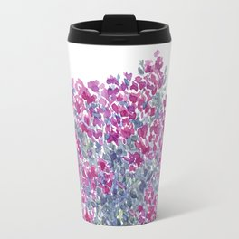 Garden Flowers Watercolor  Travel Mug