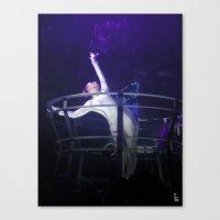 techno Canvas Prints featuring Techno Diva by tscreative