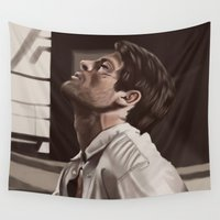 castiel Wall Tapestries featuring Castiel captured  by Zomberflie