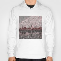 cleveland Hoodies featuring cleveland city skyline by Bekim ART