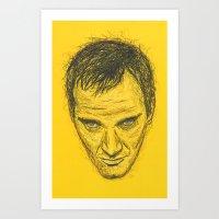quentin tarantino Art Prints featuring Quentin Tarantino by Treyson Bird