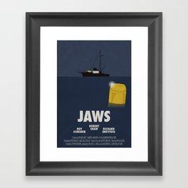 Jaws tribute poster Framed Art Print