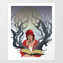 Escape into Reading Art Print