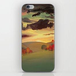Gold field iPhone Skin