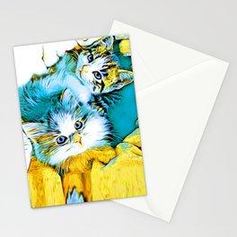 Twin Kittens Oscar & Otis Stationery Cards