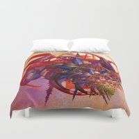 sci fi Duvet Covers featuring Sci-fi insect by Gaspar Avila