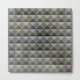 Argent Grey Abstract Low Polygon Background Metal Print