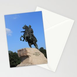 "Bronze monument of Peter the Great. ""Bronze Horseman"" Stationery Cards"