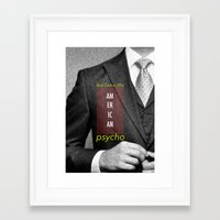 american psycho Framed Art Prints featuring american psycho  by Andy Torres