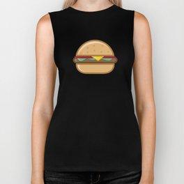 Burger Illustration Biker Tank