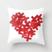 medicine Throw Pillows featuring medicine heart by bugo