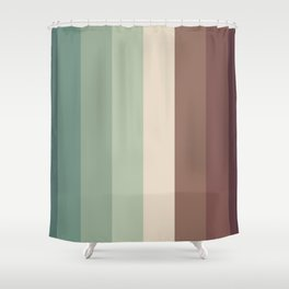 autumn season color pattern - striped fall colors Shower Curtain