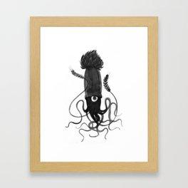 Beer Squid Framed Art Print