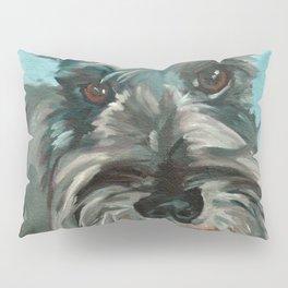 Schnauzer Dog Portrait Pillow Sham