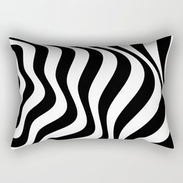 Op Art Waves B&W Rectangular Pillow