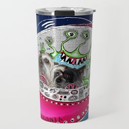 Chinese Crested Hairless Dogs in Space  Travel Mug