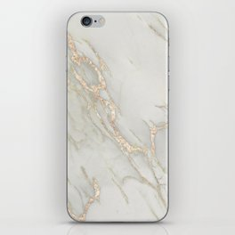 Marble Love Bronze Metallic iPhone Skin