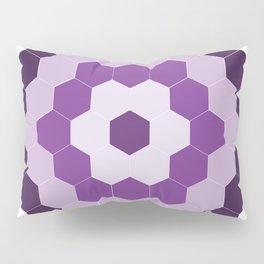 Purple Hexagon Honeycomb Pillow Sham