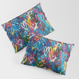 Graffiti Hearts Love (Color) Pillow Sham