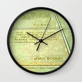 Joan Bodon Wall Clock