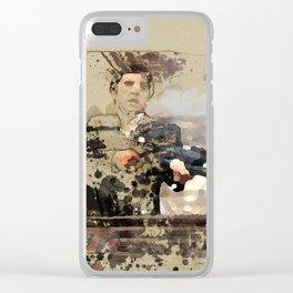 Tony Montana paint art Clear iPhone Case