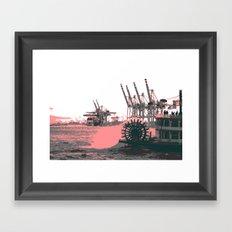 paddle wheel in hamburg Framed Art Print