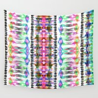 ikat Wall Tapestries featuring Ikat #8C by Schatzi Brown