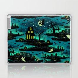Halloween Night - Fox Fire Green Laptop & iPad Skin