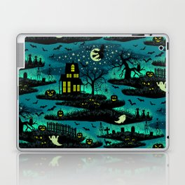 Halloween Night - Fox Fire Green Laptop & iPad Skin