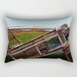 Lobster Traps and the Sea Rectangular Pillow