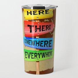 Directions Panels Wanderlust Travel Mug
